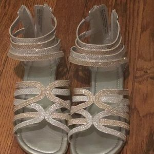 e4791cee80e Children s Place Shoes - Girls silver and gold gladiator sandals